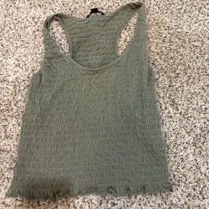 American Eagle scrunched short tank